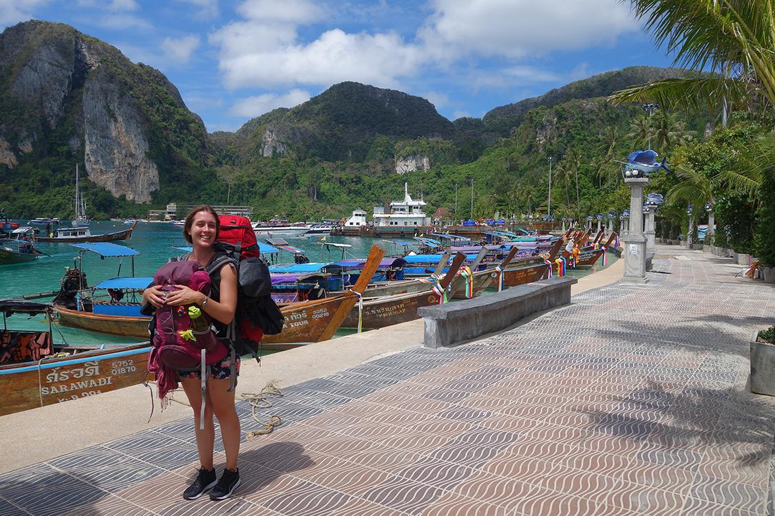 Lisa Lehnen auf Ko Phi Phi