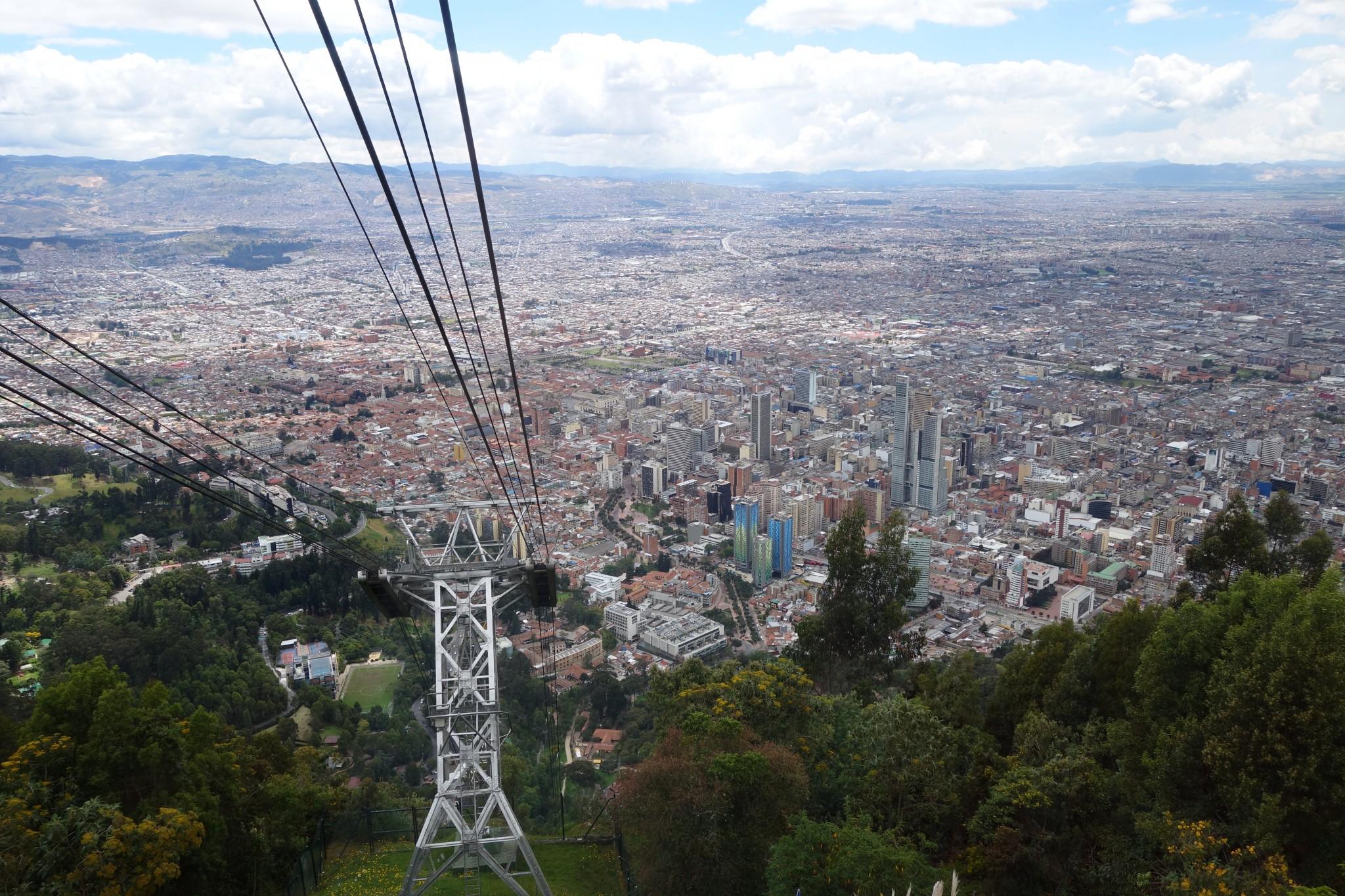 Aussicht vom Berg Monserrate in Bogota