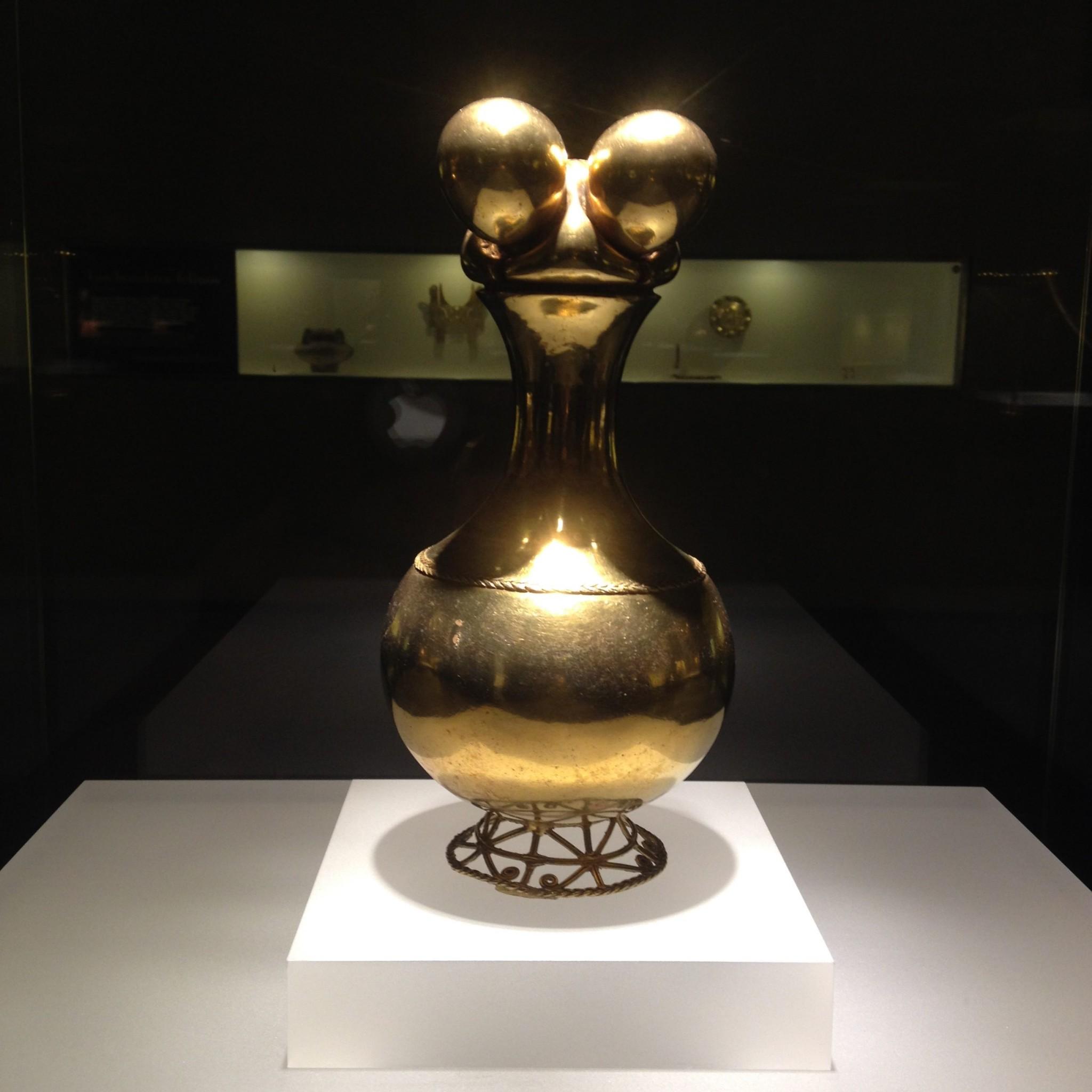 Skulptur aus dem Museo del Oro